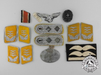 A Lot of Luftwaffe Insignia from the Estate of Hauptmann Karl Danielsen, 11. Fallschirmjäger Regt. 5
