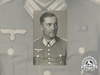 Germany, Heer. A Studio Photo of Captain with Equestrian Badge
