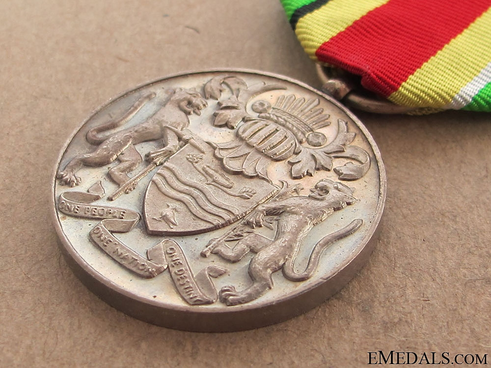 A 1966 Guyana Independence Medal