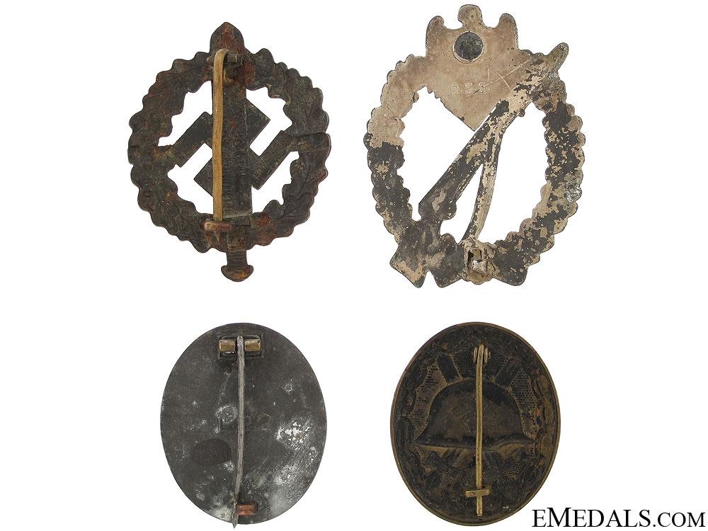 Four Third Reich Badges