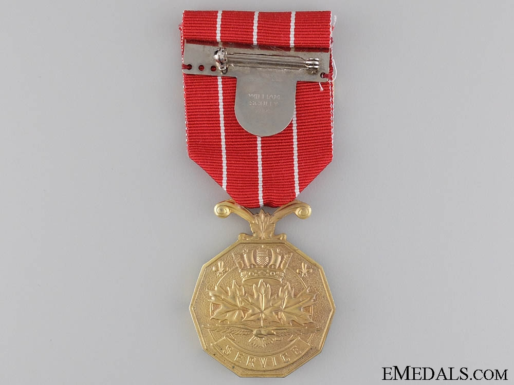 A Canadian Forces Decoration to Sgt. Bouchard