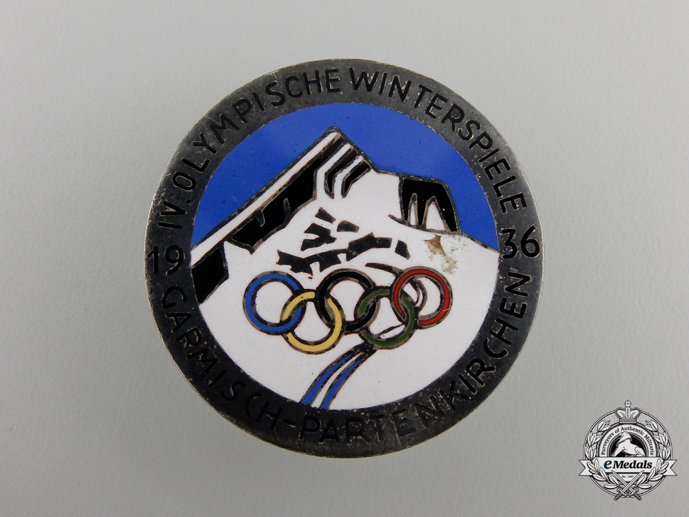 A German 1936 Olympics Winter Games Badge