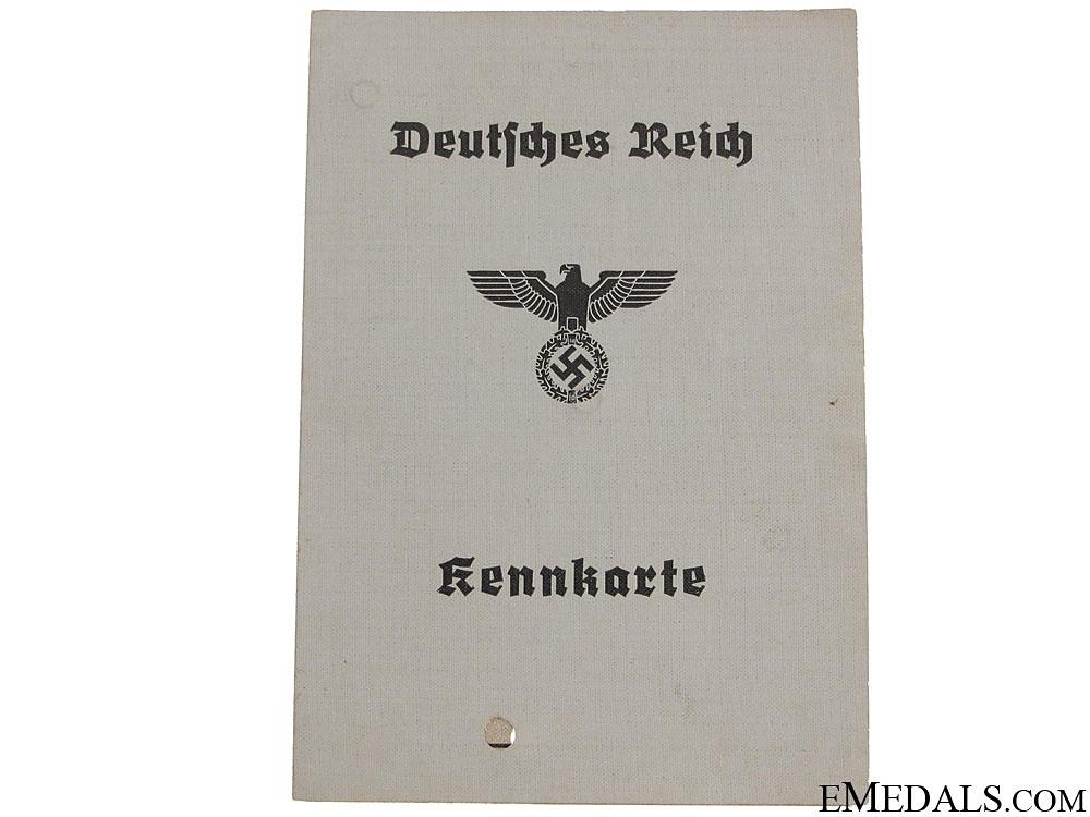 Wehrpass, 2 Keenkarte & Arbeitsbuch