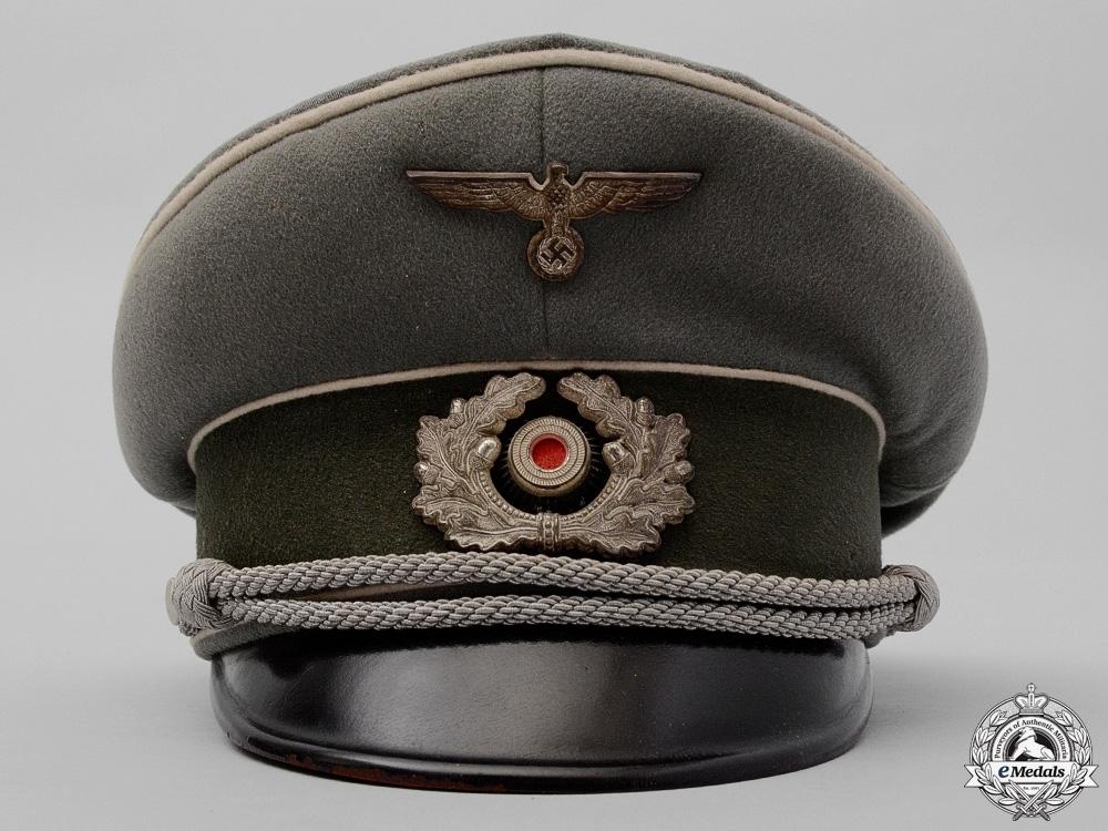 An Army Infantry Officer'sVisorbyGepolstertes Schnreifsleder