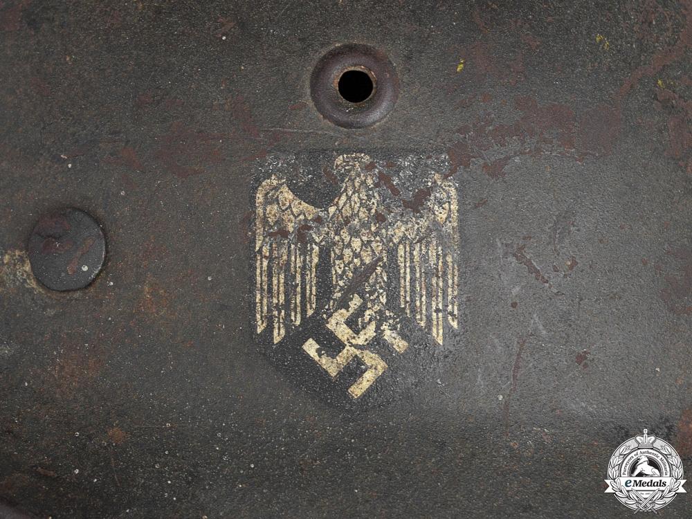 An M40 Heer Single DecalHelmet