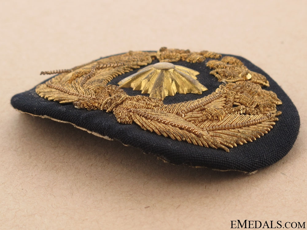 WWII Navy Officer's Cap Badge