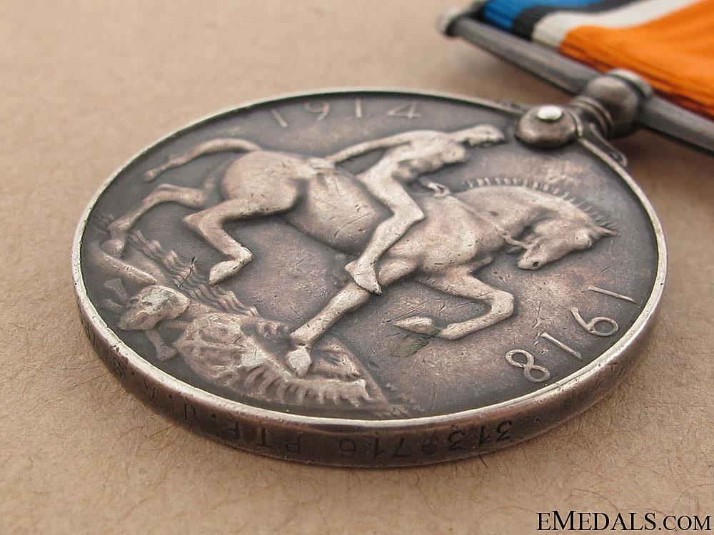 WWI War Medal - Western Ontario Regiment