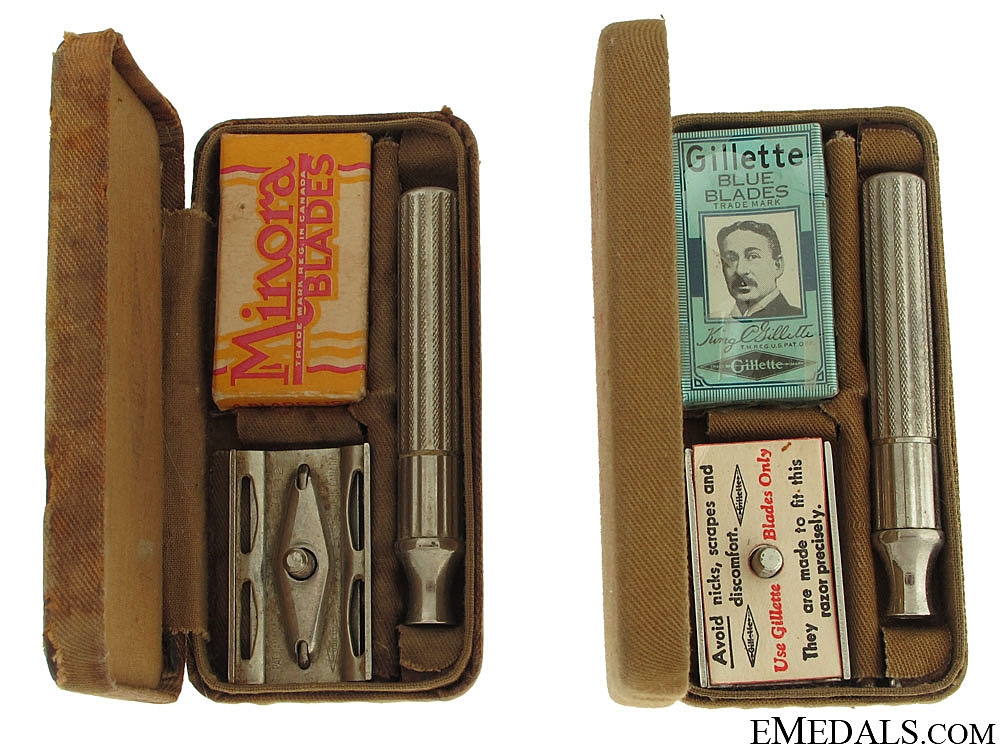 Two WWII RCAF Field Shaving Kits