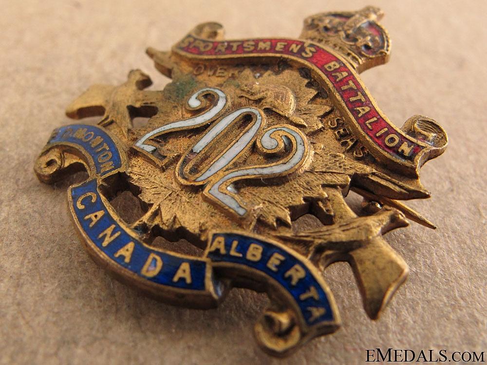 202nd Sportsmen's Battalion Sweetheart Pin