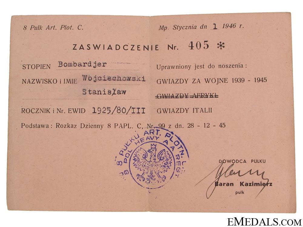 A Polish Monte Cassino Group