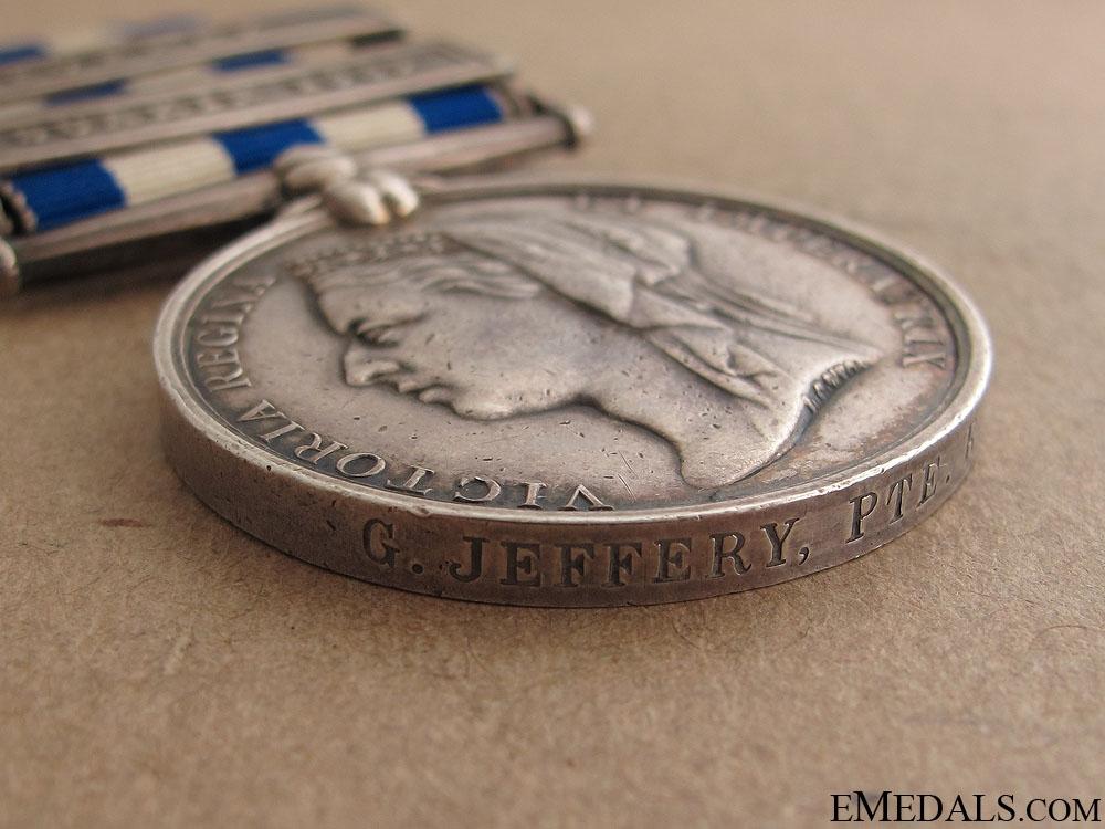 Egypt Medal - Royal Marine Light Infantry