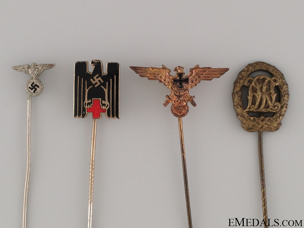 Four German Stickpins