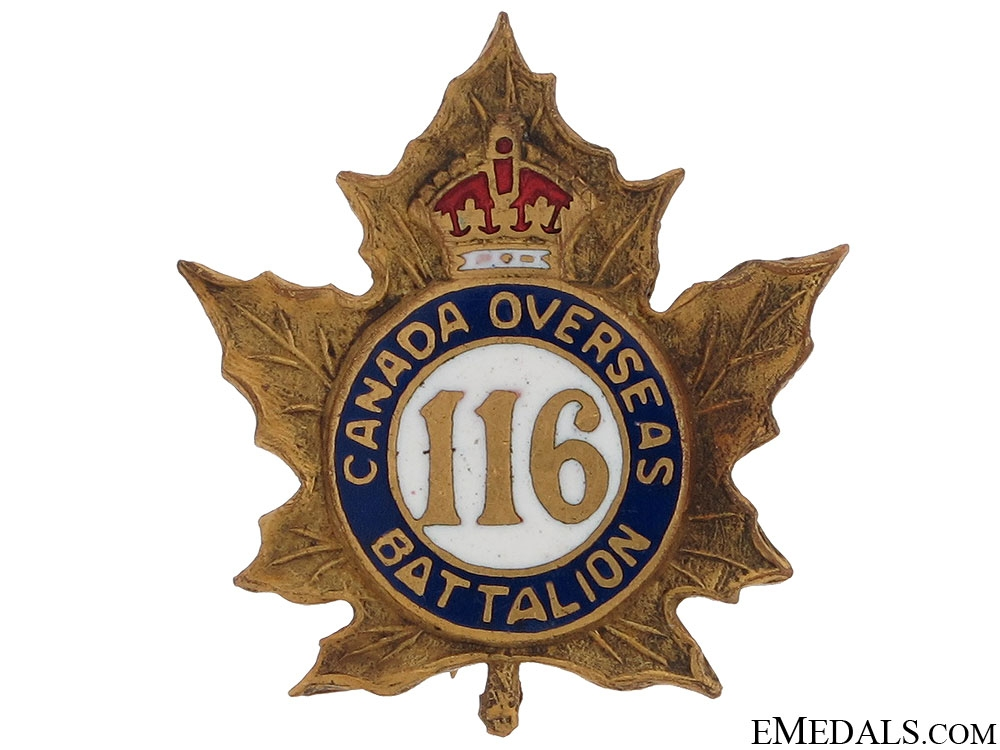 116th Canadian Overseas Battalion Pin CEF