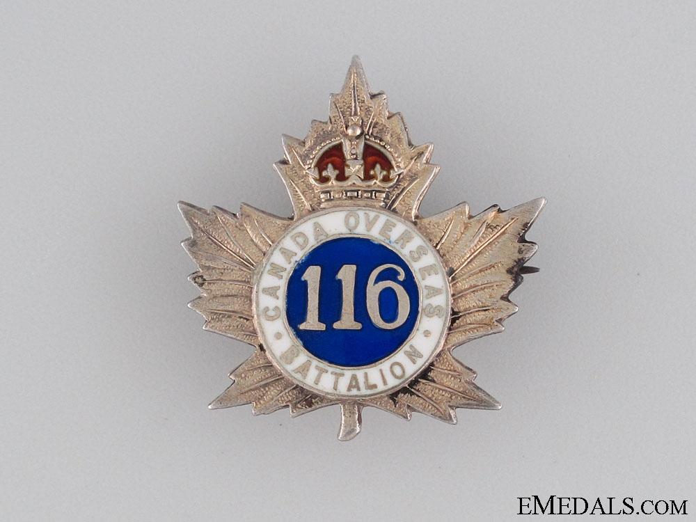 116th Infantry Battalion Pin CEF