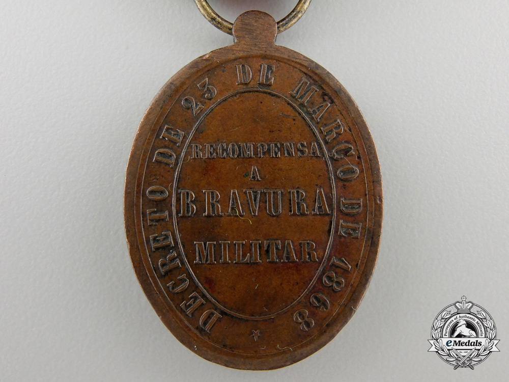 An 1868 Brazilian Medal for Bravery for Paraguay
