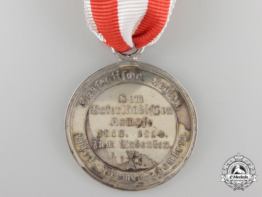 A Hanseatic Cities Napoleonic Campaigns Medal 1815