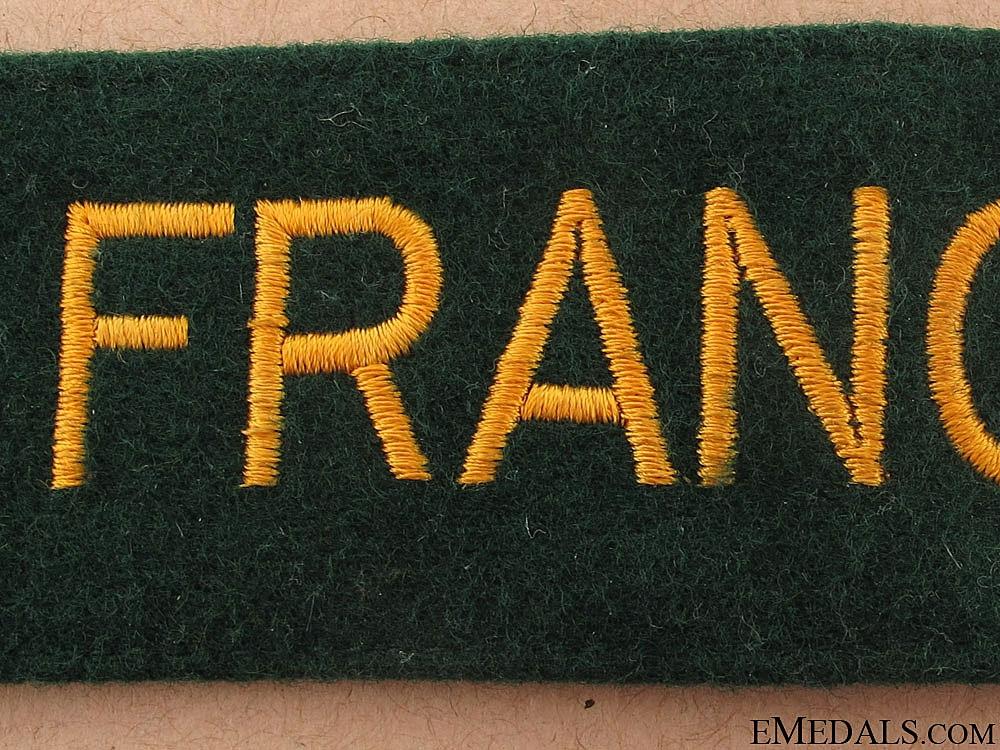 "German Custom's Official Cufftitle ""Français"""