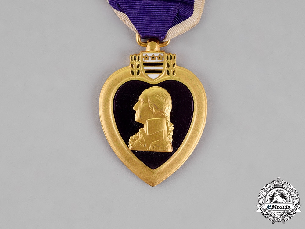 United States. A Purple Heart to Sergeant Kenneth Dwight Hartley, KIA at Umch'on, Korea, October 6, 1952