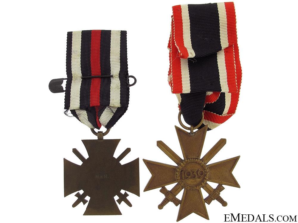 Hindenburg Cross & War Merit Cross with Swords