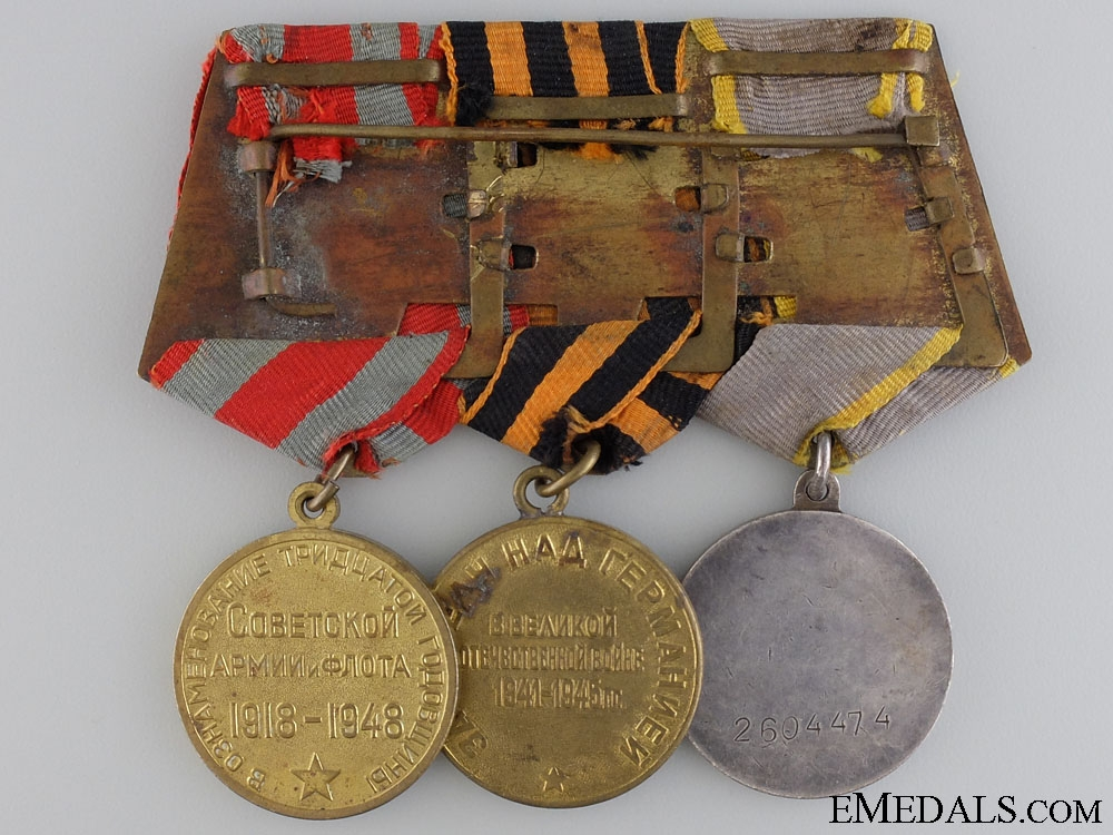 A Soviet Medal with Three Awards