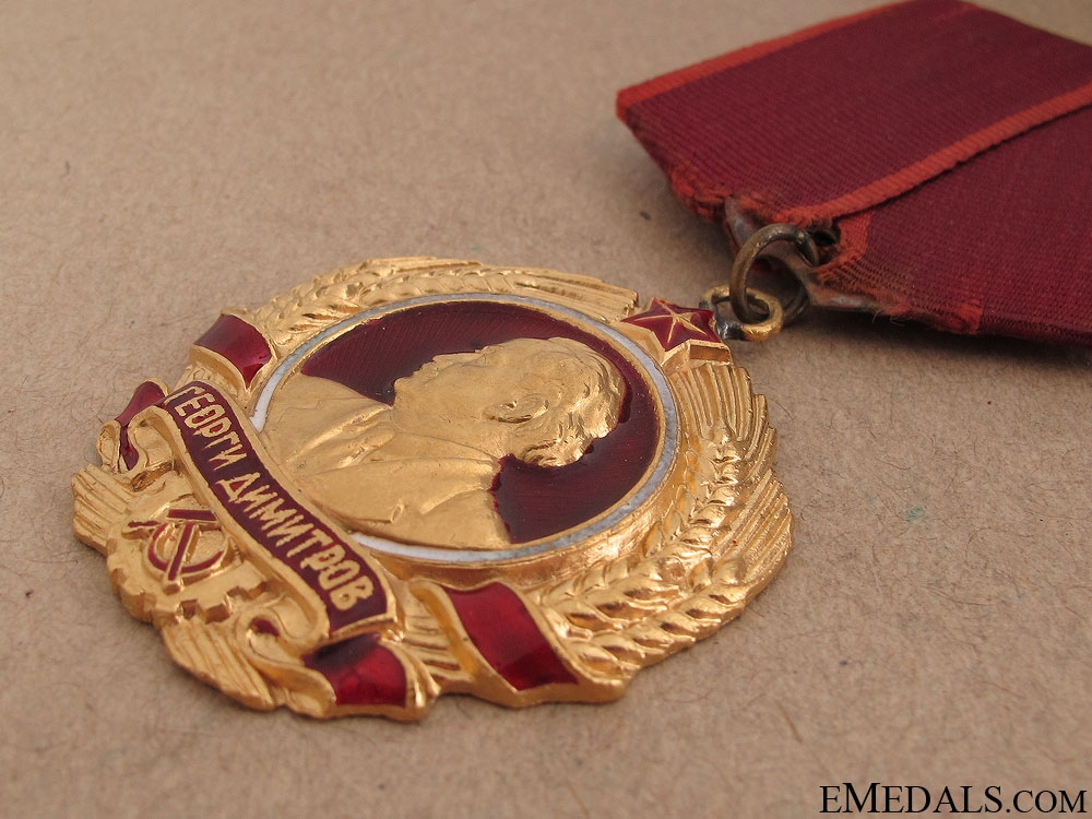 The Order of Dimitrov in Gold