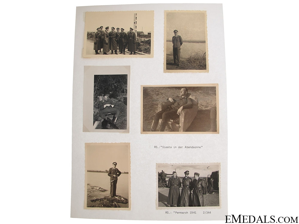Photos & Documents to KIA Oberleutnant