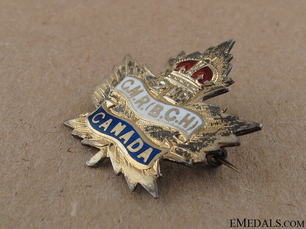 WWI 2nd Canadian Mounted Rifles Sweetheart Pin