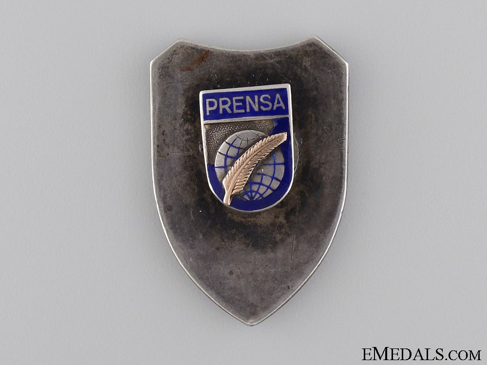 A 1920's Chilean Interior Ministry Police ID Badge