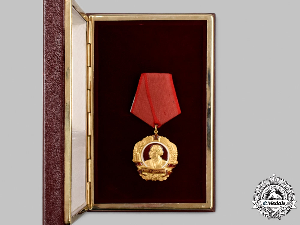 Bulgaria, People's Republic. An Order of Georgi Dimitrov in Gold, with Case