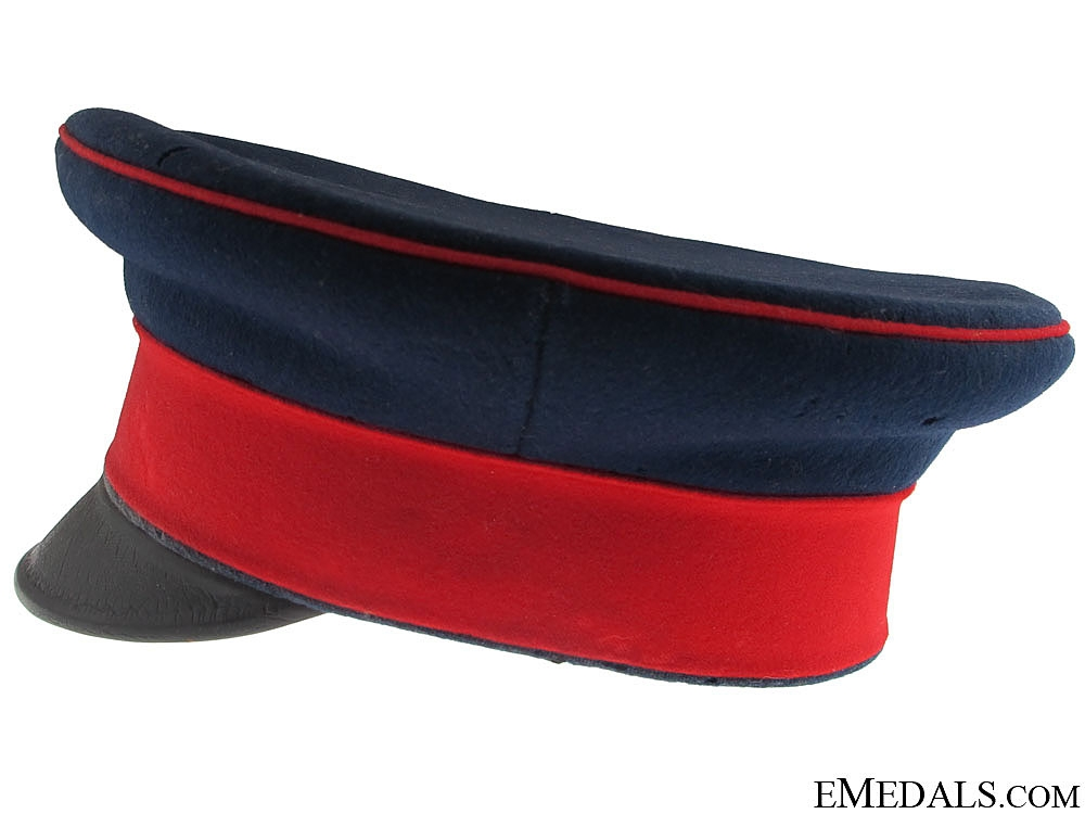 A First War Prussian Regiment Peaked Cap, Named