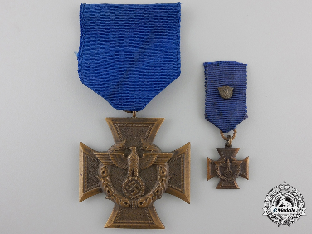 A German Customs Service Cross with Miniature