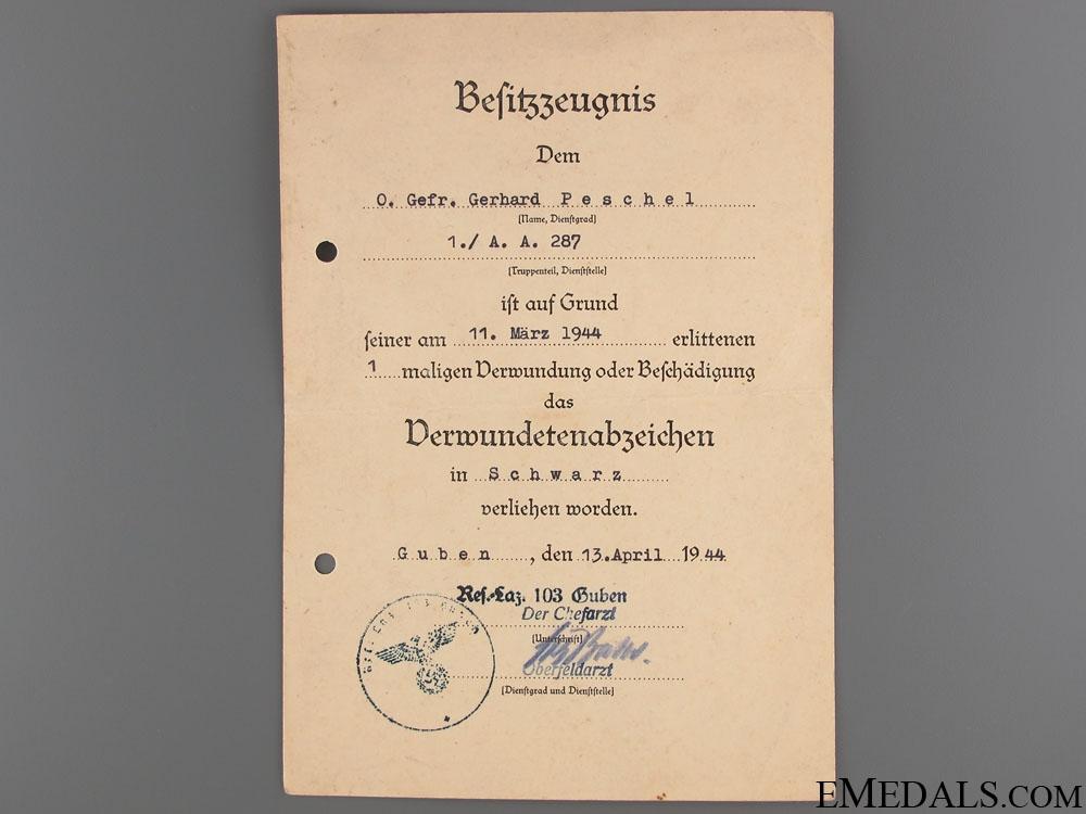 Obergefreiten Flak Panzer Art Regiment 102 Documents