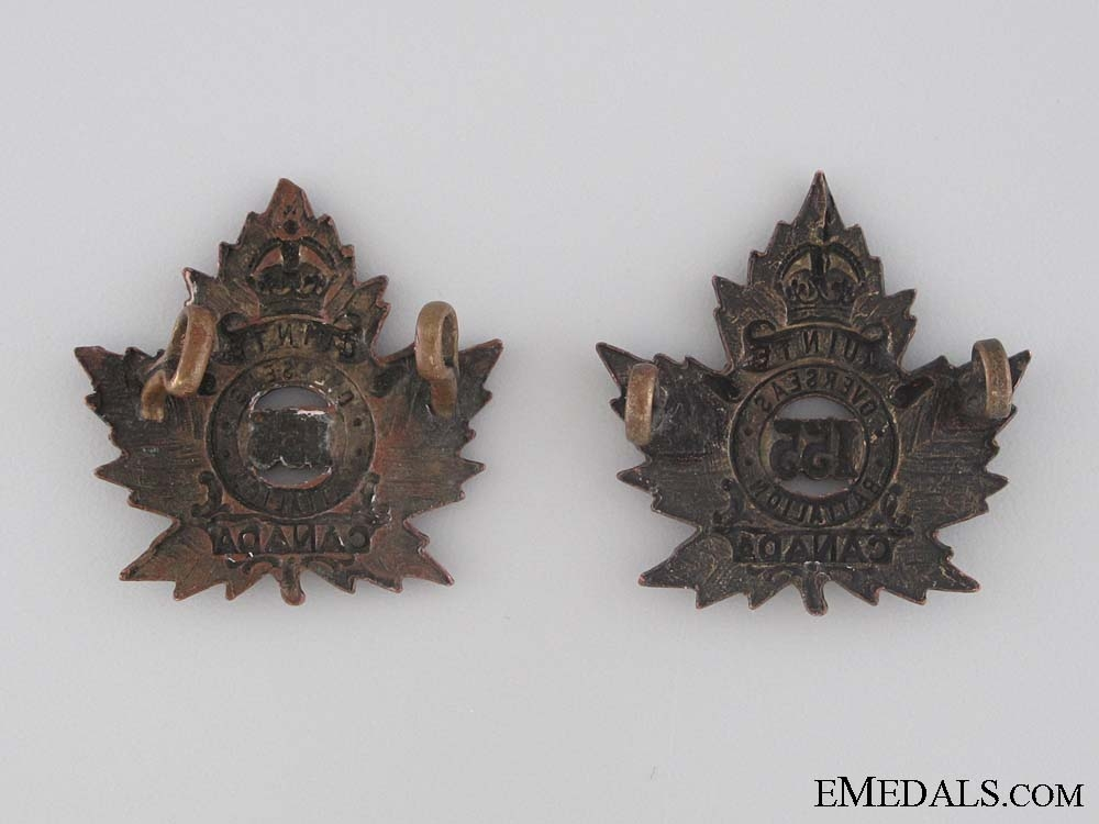 WWI 155th Infantry Battalion Collar Tab Pair
