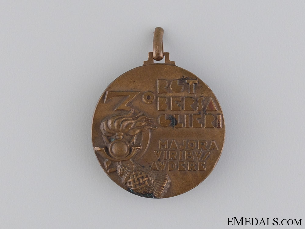 An Italian rd Bersaglieri Regiment Commemorative Medal