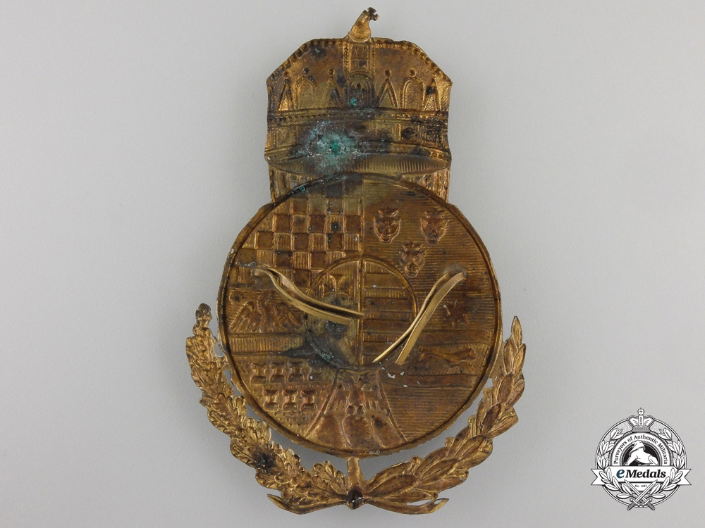 A First War Period HungarianGendarmerie Shako Plate