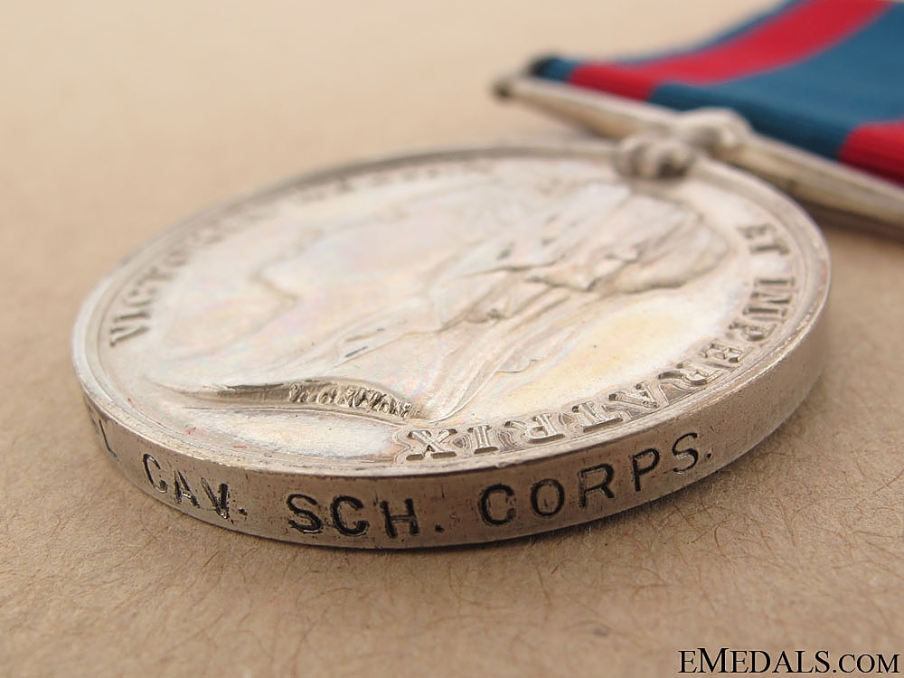 North West Canada Medal - Cavalry School Corps