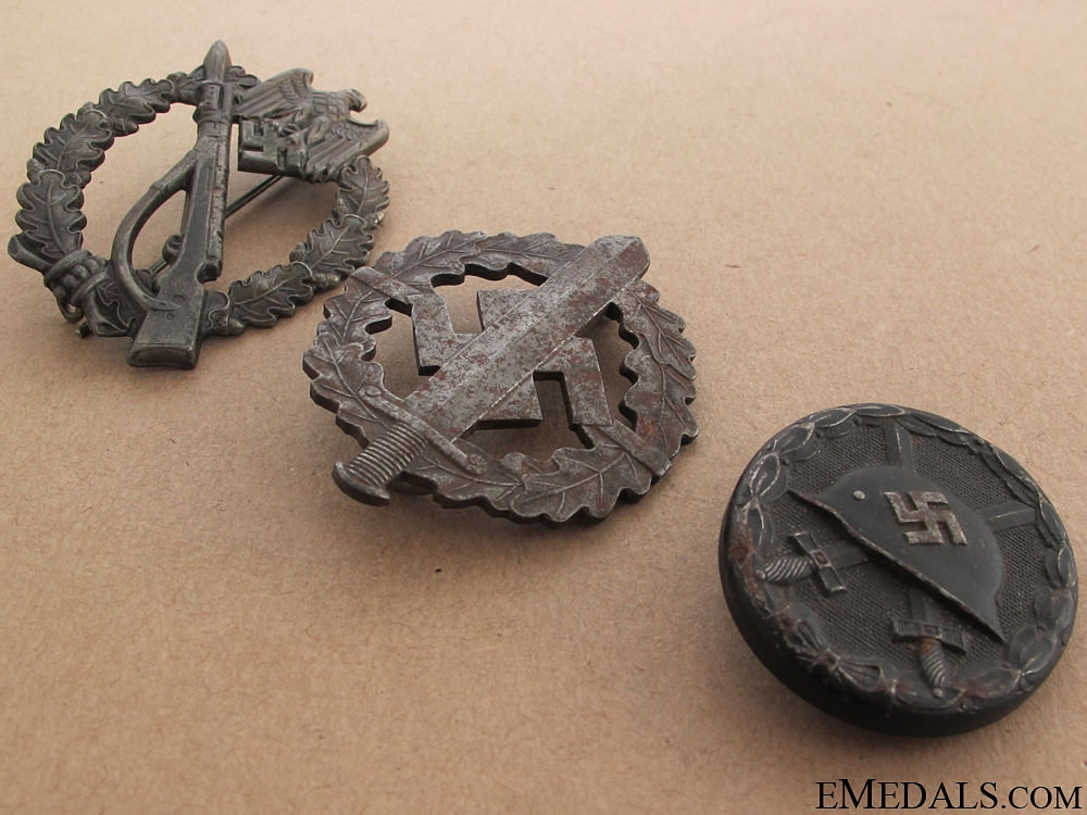 Three WWII German Badges