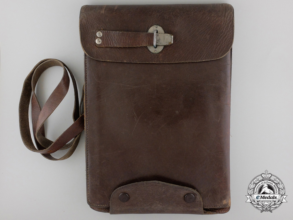 A Wehrmacht Officer's Tote Case by Arndt & Lehmann