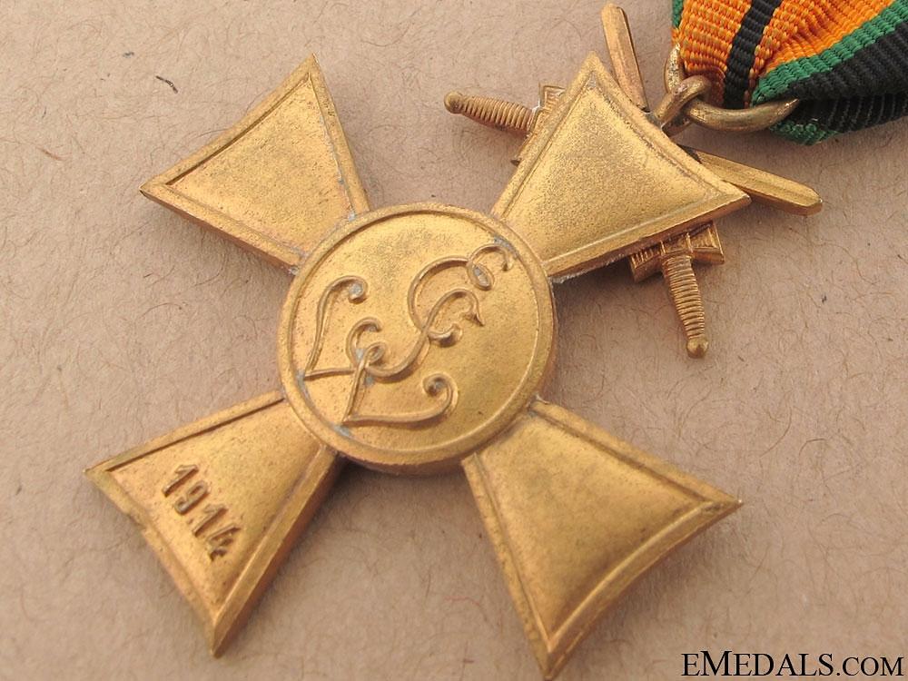 Saxon WWI Veteran's Cross w/Swords