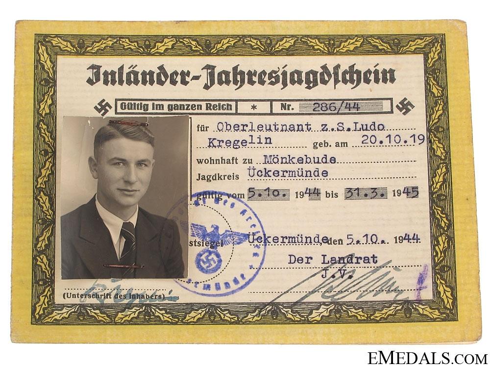Group to U-Boot Officer - Oberleutnant Kregelin