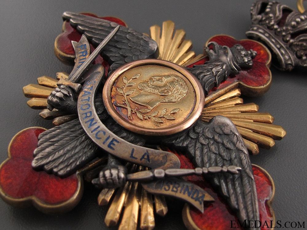 A Rare Romanian Order of Carol I; Commanders Neck Cross