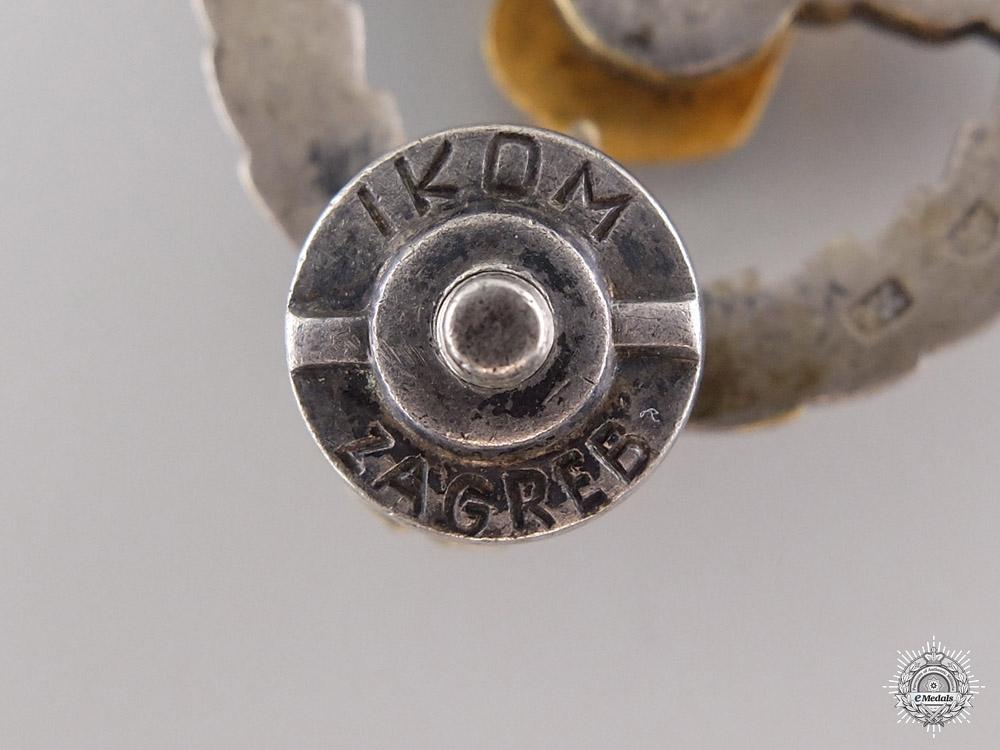 A Yugoslavian Paratrooper Badge in Silver