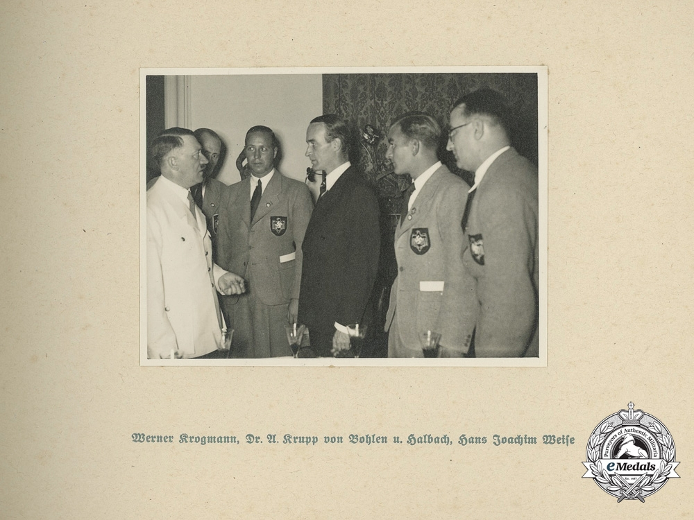A Rare 1936 Olympic Games Presentation Photo Album