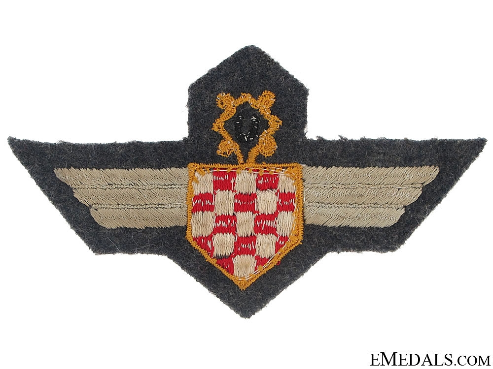 Croatian Air Force Legion Badge-Cloth version