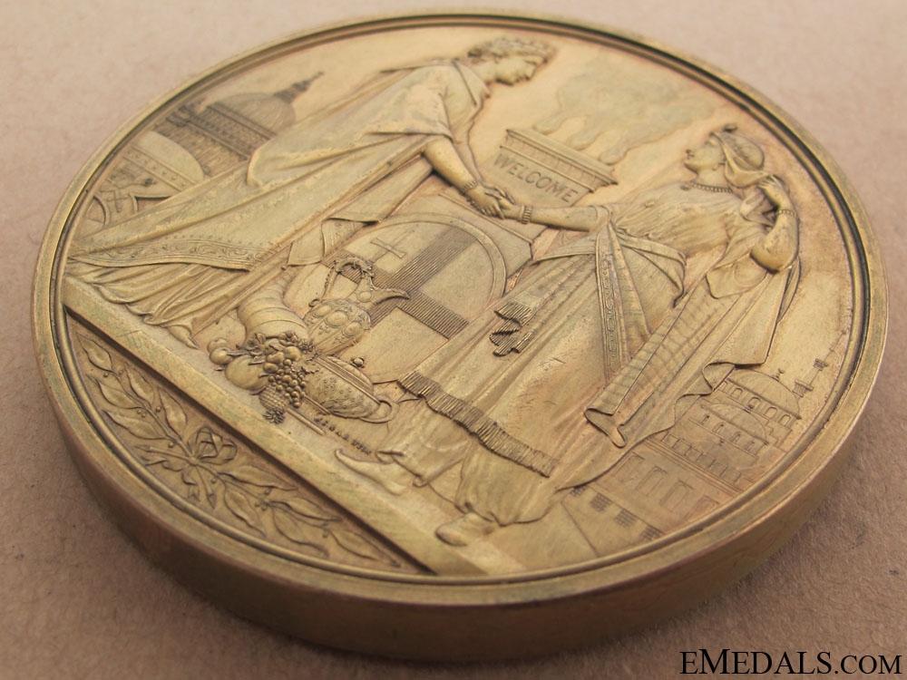 Sultan Abdulaziz's Visit to London Commemorative Table Medal, 1867