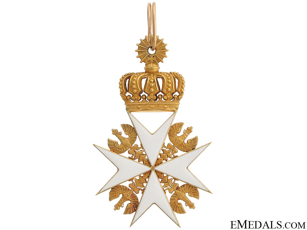 A Prussian Order of St.John in Gold c.1880