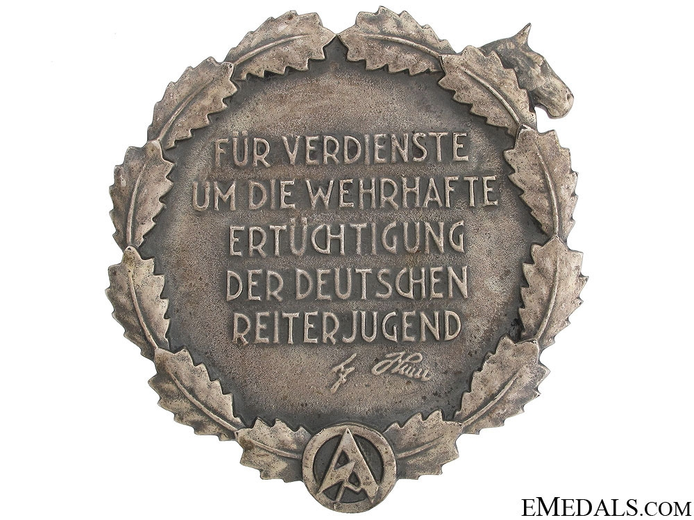 NS Riderkorps Merit Plaque