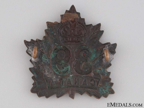WWI 39th Infantry Battalion Cap Badge CEF