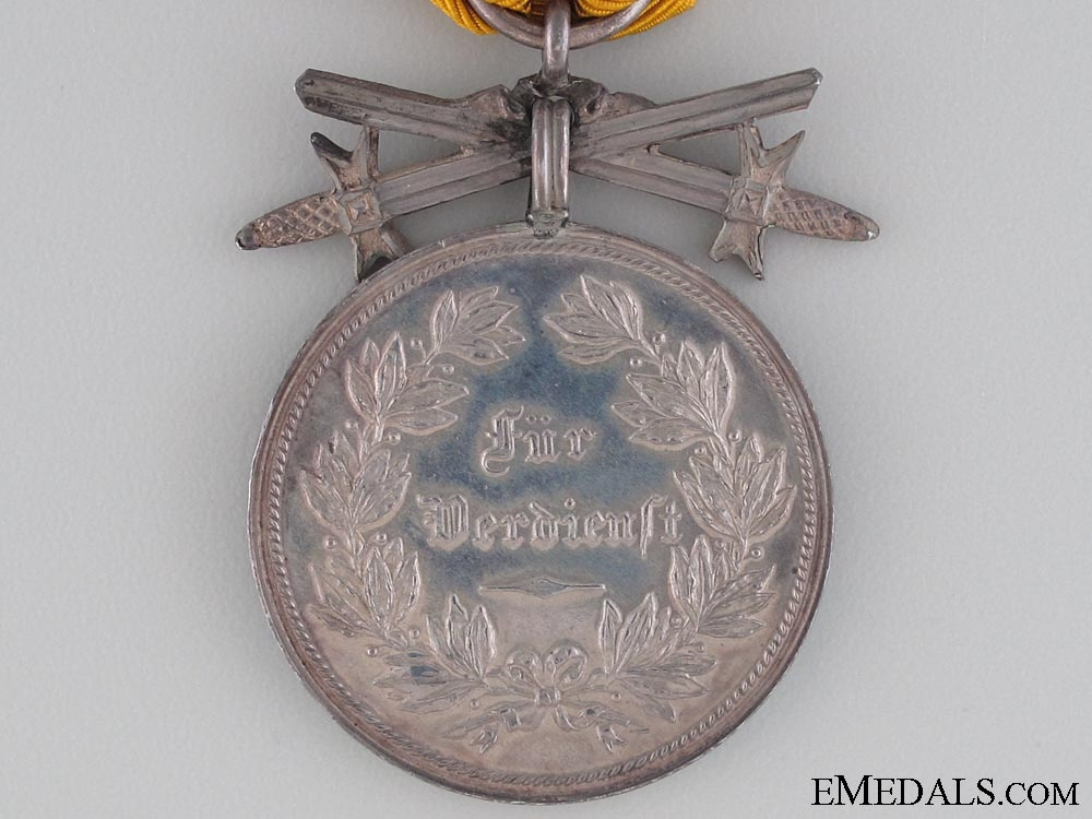 Reuss Merit Medal with Swords; Silver Grade