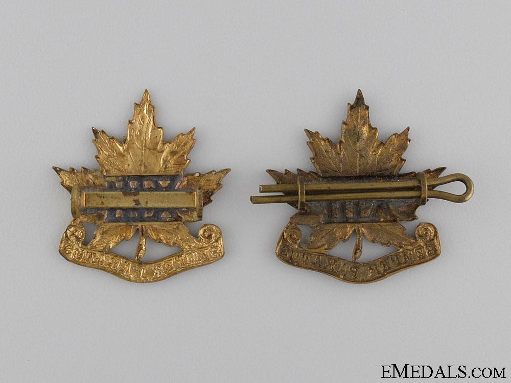 WWI Period 13th Regiment Collar Tab Pair; c. 1909